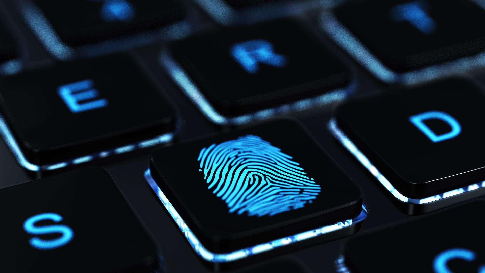 digital forensic investigation, fingerprint, keyboard